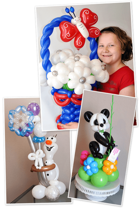 custom order balloon twisting samples
