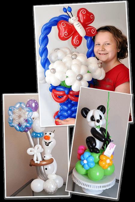 custom order balloon twisting samples