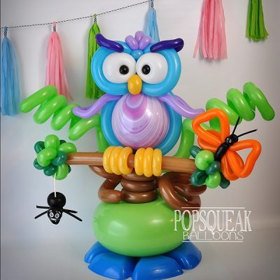 owl centerpiece balloon twisting